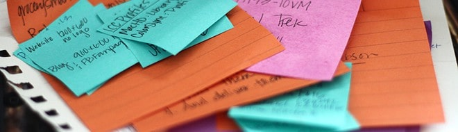 Post-it note reminders
