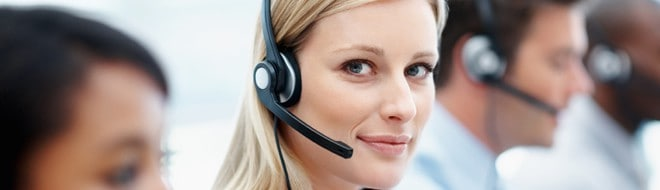 Virtual receptionists taking calls