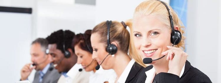 Call center operators at Continental Message Solution (CMS)