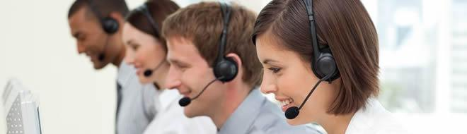 Office answering service team