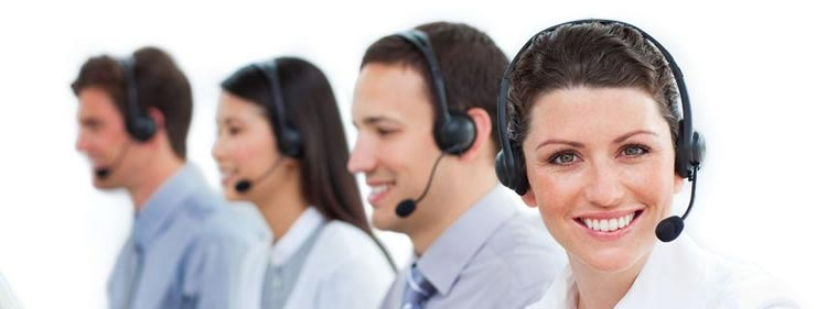 Call center team providing customer service for small business owners