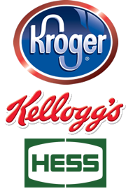 Kroger, Kellogg's, and Hess client logos