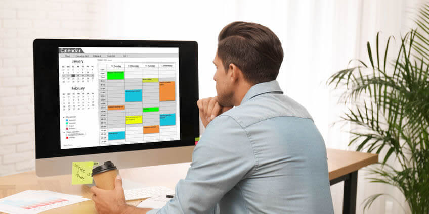 Staff member creating on-call rotation in our scheduling software